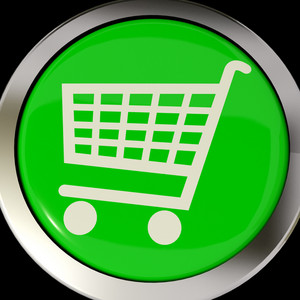 Shopping Cart Icon Or Button As Symbol For Checkout Or Online Shopping