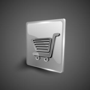 Shopping Cart Symbol Icon Set.