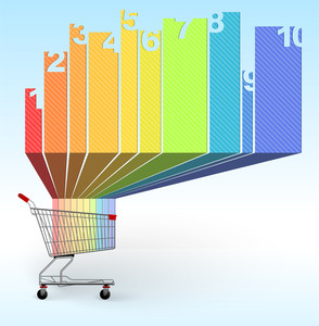 Shopping Infographic Chart Template. Vector.