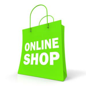Shopping Online Bag Shows Internet Buying
