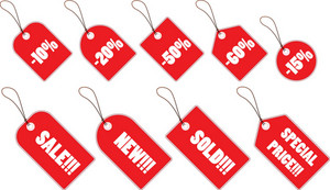 Shopping Tag Vector Element