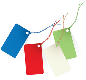 Shopping Tags. Vector.
