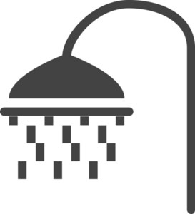 Shower Glyph Icon