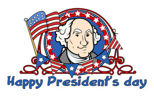 Showing George Washington On Presidents Day Vector Illustration