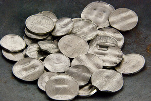 Shredded German Mark Coins