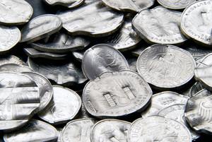 Shredded German Mark Coins