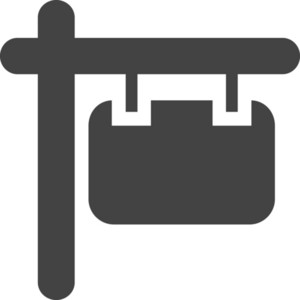 Sign 2 Glyph Icon