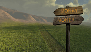 Sign Direction Money Money