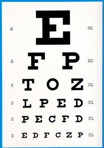 Sign Eye Chart