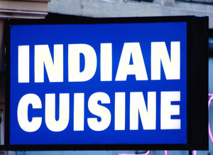 Sign For An Indian Restaurant
