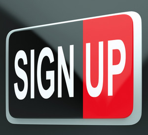 Sign Up Button Shows Members