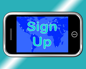 Sign Up Mobile Message Shows Online Registration