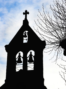 Silhouette Of A Church Belfry Tower