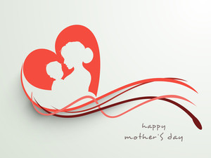 Silhouette Of A Mother And Her Child