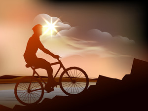 Silhouette Of Bmx Cyclist