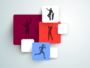 Silhouette Of Sports Persons