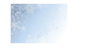Silver And Blue Christmas Background With Snowflakes