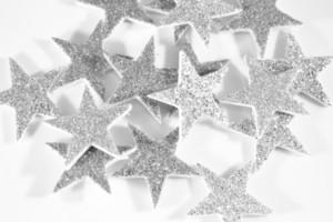 Silver Christmas Stars