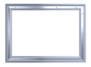 Silver-chrome Frame Isolated On White Background.