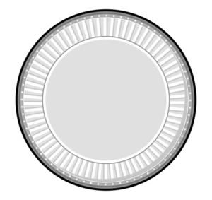 Silver Coin Vector Frame