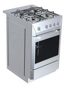 Silver Free Standing Cooker.