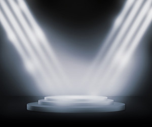 Silver Podium Spotlight Background