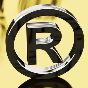 Silver Registered Sign Representing Patented Brands