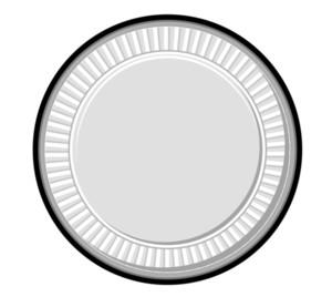 Silver Retro Coin
