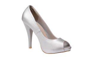 Silver Women's Heel Shoe