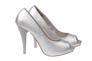Silver Women's Heel Shoes
