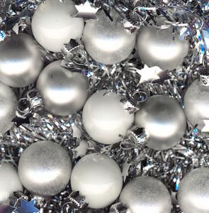 Silver Xmas Balls