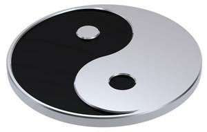 Silver Yin-yang, Symbol Of Harmony.