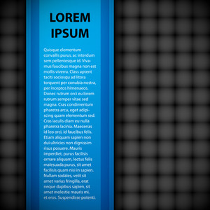 Simple Blue Banner With Header And Text. You Can Use Gray Background As Seamless Pattern.