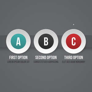 Simple Business Template With Three Options. Eps10.