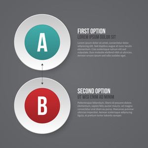 Simple Business Template With Two Options. Eps10.
