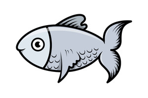 Simple Cartoon Fish Illustration