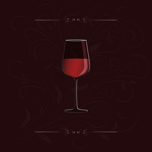 Simple Red Wine Design