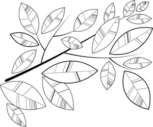 Simple Retro Shape Leaves Background
