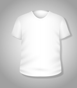 Simple White T-shirt Design Vector Illustration Template
