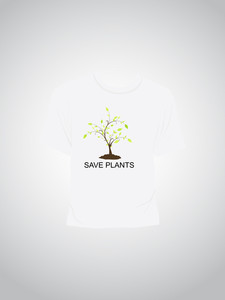 Single Tshirt With Saving Plant Concept