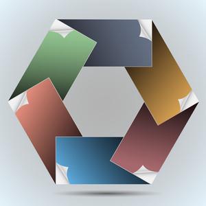 Six Paper Blank Frame
