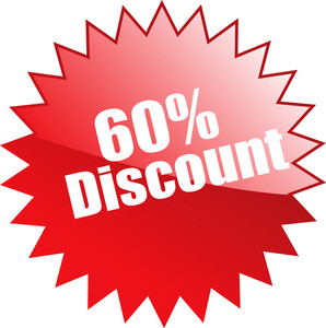 Sixty Percent Discount Seal Vector