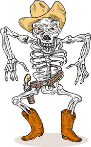 Skeleton Cowboy