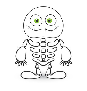 Skeleton Monster Vector