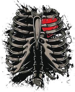 Skeleton Vector T-shirt Design