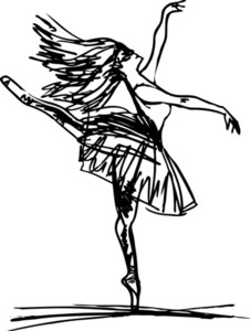 Sketch Of Ballet Dancer. Vector Illustration