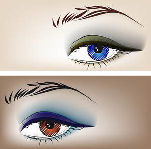 Sketch Of Beautiful Eyes. Vector Illustration