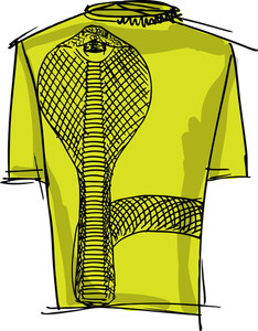 Sketch Of Cobra Tee. Vector Illustration