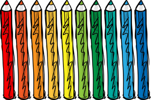 Sketch Of Color Pencils. Vector Illustration