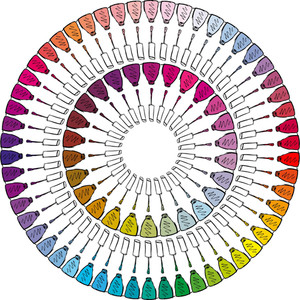 Sketch Of Colorful Nail Polish. Vector Illustration